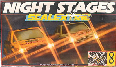 Night stages Scalextric box