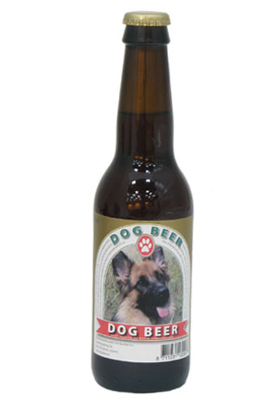 A bottle of dog beer