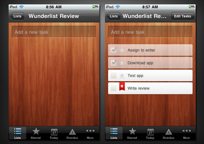 Screenshot of Wunderlist