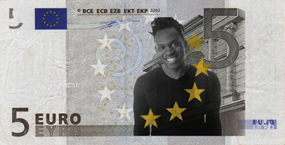 5 Euro Note with Dr Alban