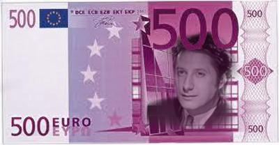 Euro note with Antoines de Caunnes