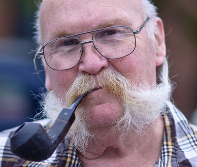 Man with moustache and pipe