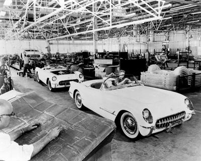 Corvette production line
