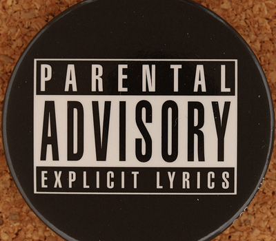 Parental advisory sticker