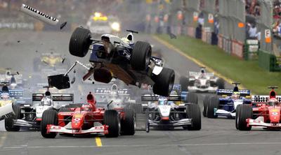 F1 crash