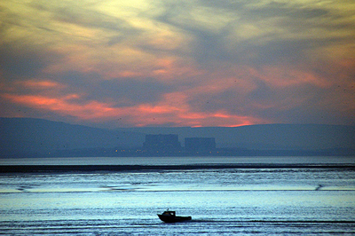 Hinkley Point power station in distance