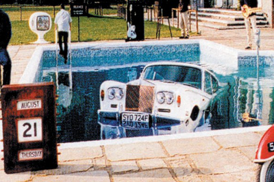 Rolls Royce in swimming pool