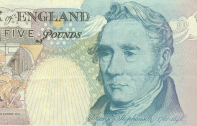 George Stephenson on fiver