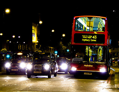 Night bus taxis