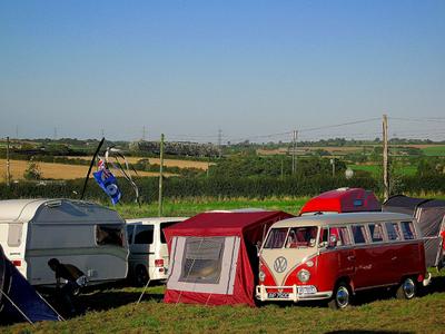 Van at a festival