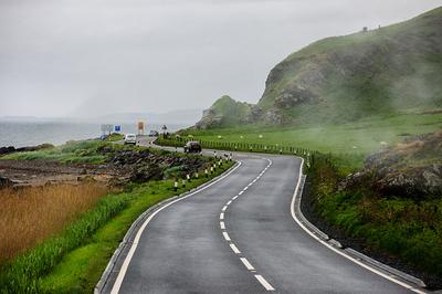 Coastal road for motorbike touring