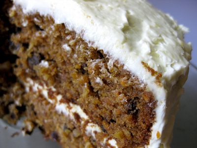 Delicious moist carrot cake