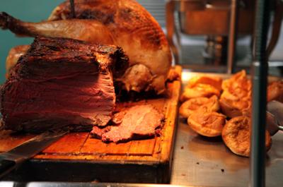 Delicious roast meats
