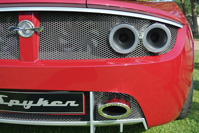Spyker rear close-up