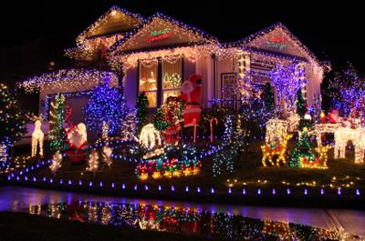A naff Christmas house
