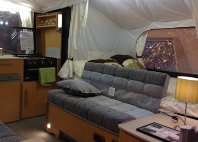 Image of folding campervan