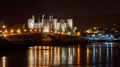 Image of Conwy at night