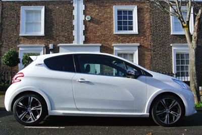 Image of 208 gti side profile