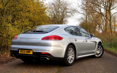 Image of Porsche Panamera Diesel rear three quarter
