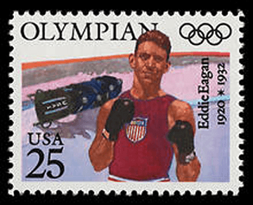 Image of stamp with Eddie Eagan on it