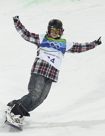 Image of Olymbic Snowboarder
