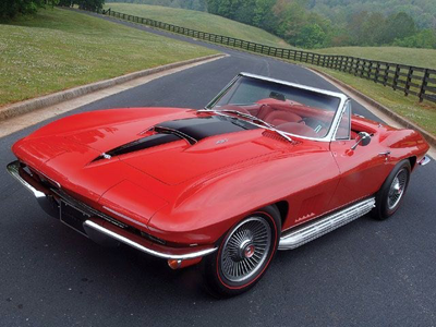 Image of old Corvette