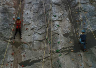 A climbing wall