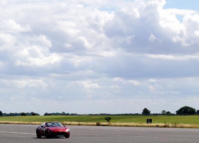 Image of Maserati GrandCabrio in transit