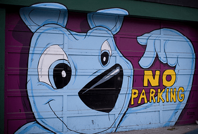 Image of no parking grafitti