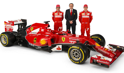Image of 2014 Ferrari F1 car