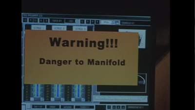 Image of danger to manifold shot