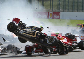 Image of F1 crash