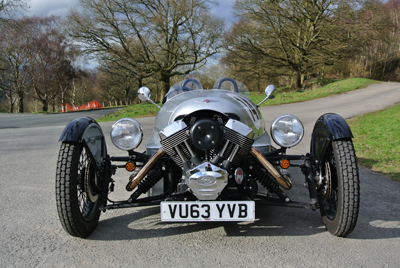 Image of Morgan 3 Wheeler from the front