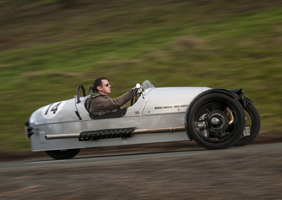 Image of Morgan 3-Wheeler in action