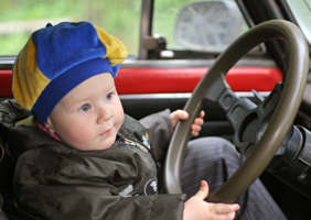 Image of very young driver