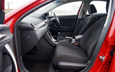 Image of MG6 interior front seats