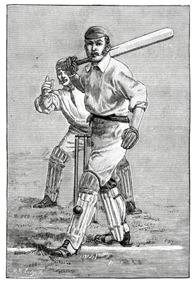 Image of old-school cricket player
