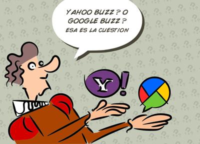 Image of man pontificating over Google Buzz