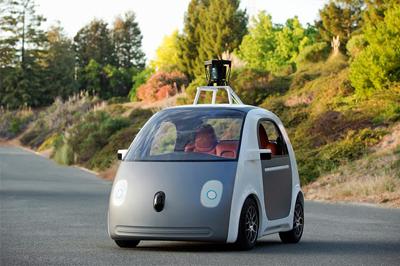 Image of Google self-driving car
