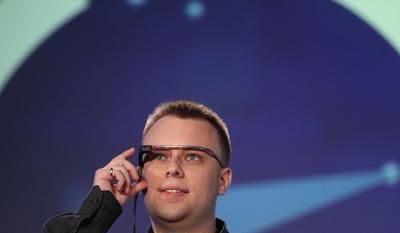 Image of man wearing Google Glass