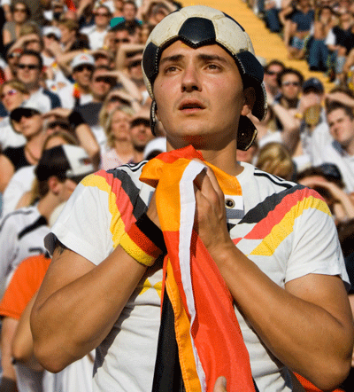 A German football fan