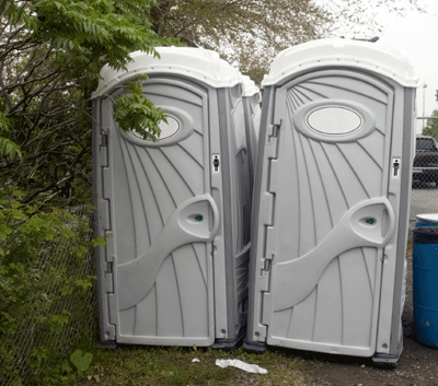 image of festival toilets