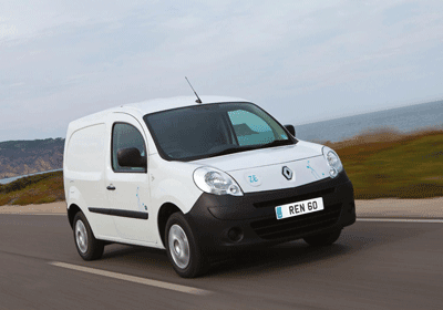 Image of Kangoo ZE electric van from front
