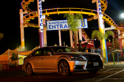 Image of Lexus at night