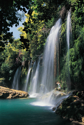 Image of waterfall in Antalya