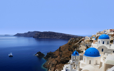 Image of Santorini in Greece
