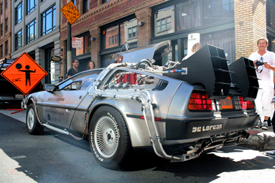 Image of a De Lorean
