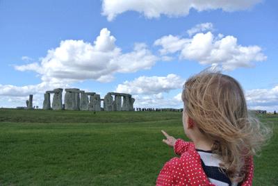 Image of child at Stonehenge