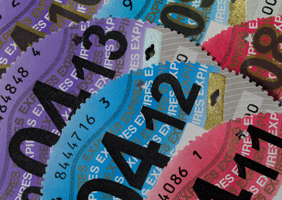 Image of tax discs