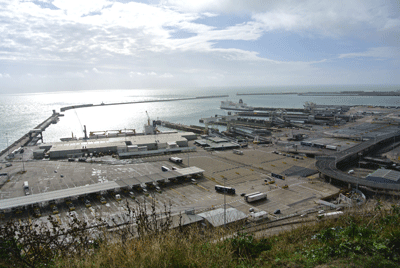 Image of massive ferry car park in Dover